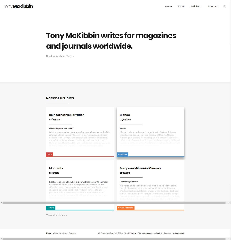 Tony McKibbin Homepage